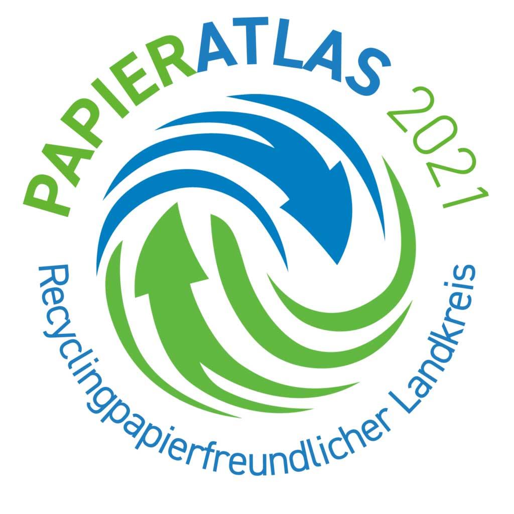 Recyclingpapierfreundlicher Landkreis Papieratlas